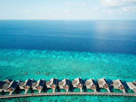The Fairmont Maldives Sirru Fen Fushi resort. Picture: Fairmont