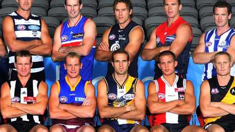 Nathan Buckley, bottom left, and Adam Simpson, top right, are former club captains.