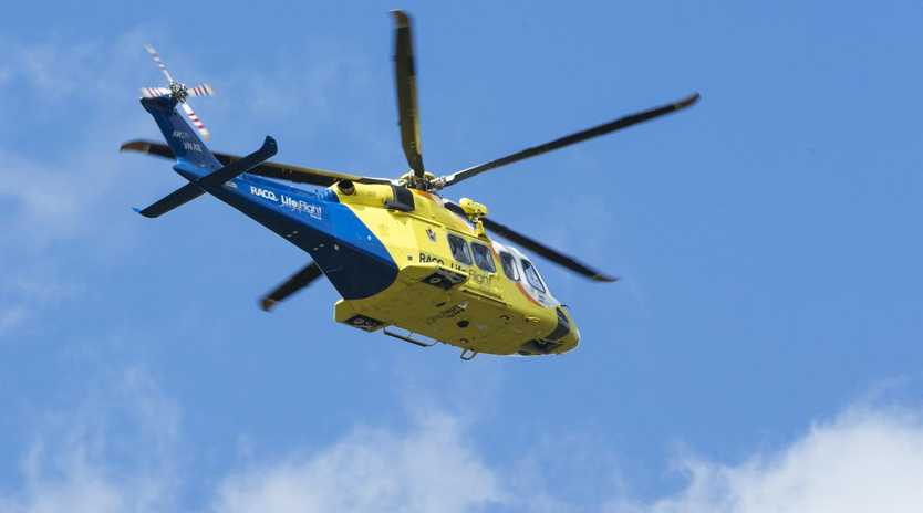 One of the men was flown to the Princess Alexandra Hospital by the RACQ LifeFlight helicopter in a stable condition.