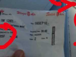 RUSH HOUR: Surprising discovery on plane ticket