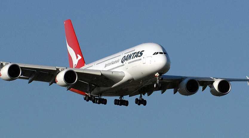 A Qantas Airbus A380.