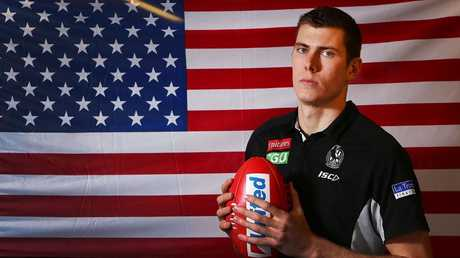 American Mason Cox has been a revelation for the AFL. Picture: Michael Dodge/Getty Images
