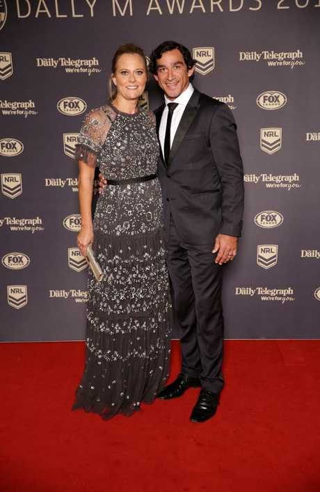 Samantha Lynch and Johnathan Thurston. Picture: Christian Gilles