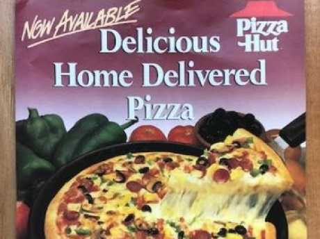 A flyer from Pizza Hut in years gone by. Picture: Supplied