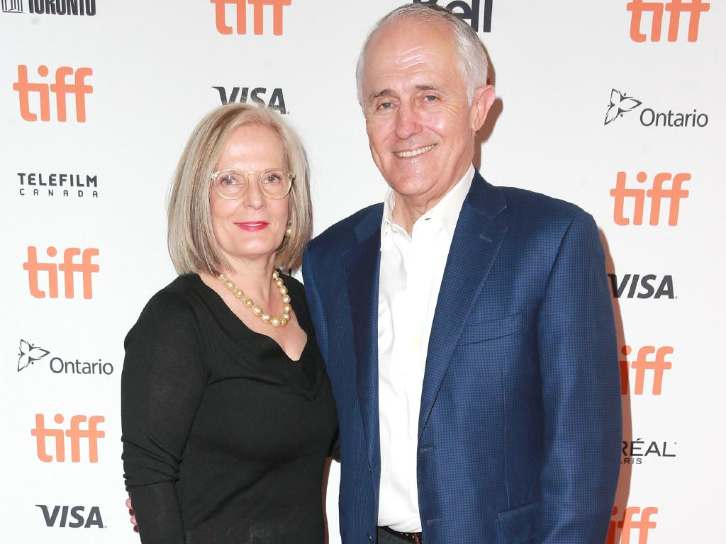 Malcolm and Lucy Turnbull have been spending time in the US and Canada. Picture: Getty Images for Netflix