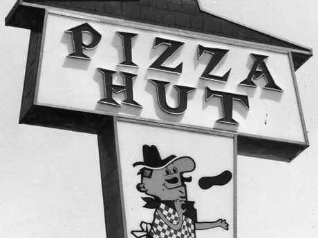 One of the first Pizza Hut signs from a restaurant in 1978. Picture: Supplied