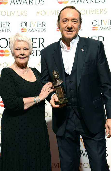Kevin Spacey and Judi Dench at the Olivier Awards in 2015. Picture: Splash News