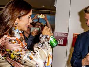 Princess Mary cracks a beer in the Big Apple