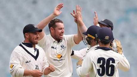 Jon Holland, centre, has earned a recall to the Test squad following stellar results for Victoria. Picture: Getty
