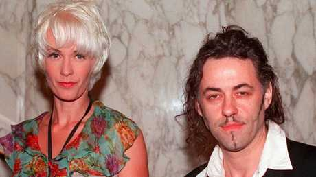 Yates and Hutchence were vilified over their affair following her split with Geldof (right).