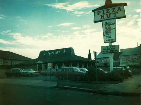 A Pizz Hut restaurant in Petersham in Sydney's inner west in the late 1970s. Picture: Supplied