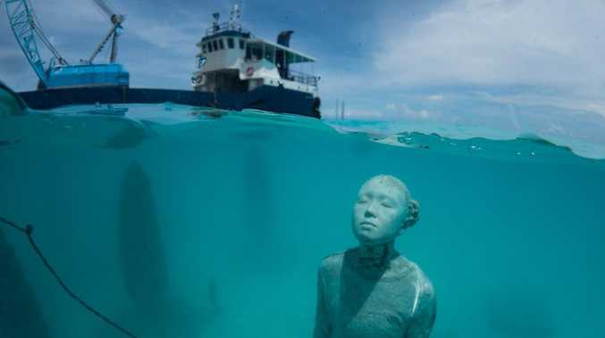 Underwater art destroyed for being 'offensive' to Islam