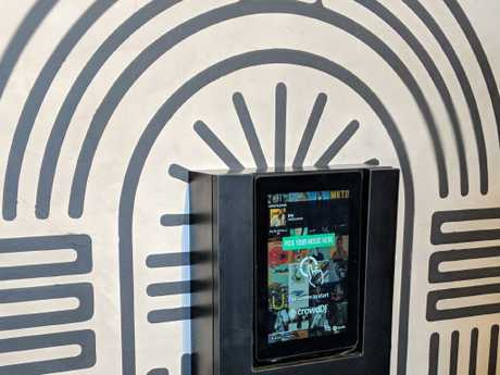 The new style jukebox at Pizza Hut Marsden Park. Picture: Supplied