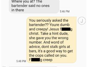 RUSH HOUR: Hilarious response to creepy text