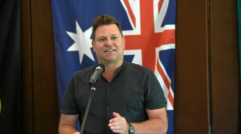 Byron Shire mayor Simon Richardson was MC at the Australia day celebrations at the Mullumbimby Ex-Services Bowling Club.