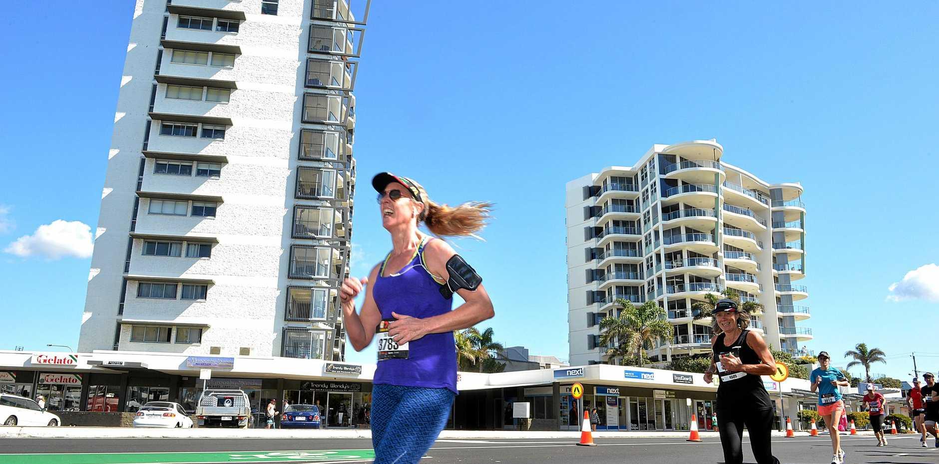 Action from the Sunshine Coast Marathon.