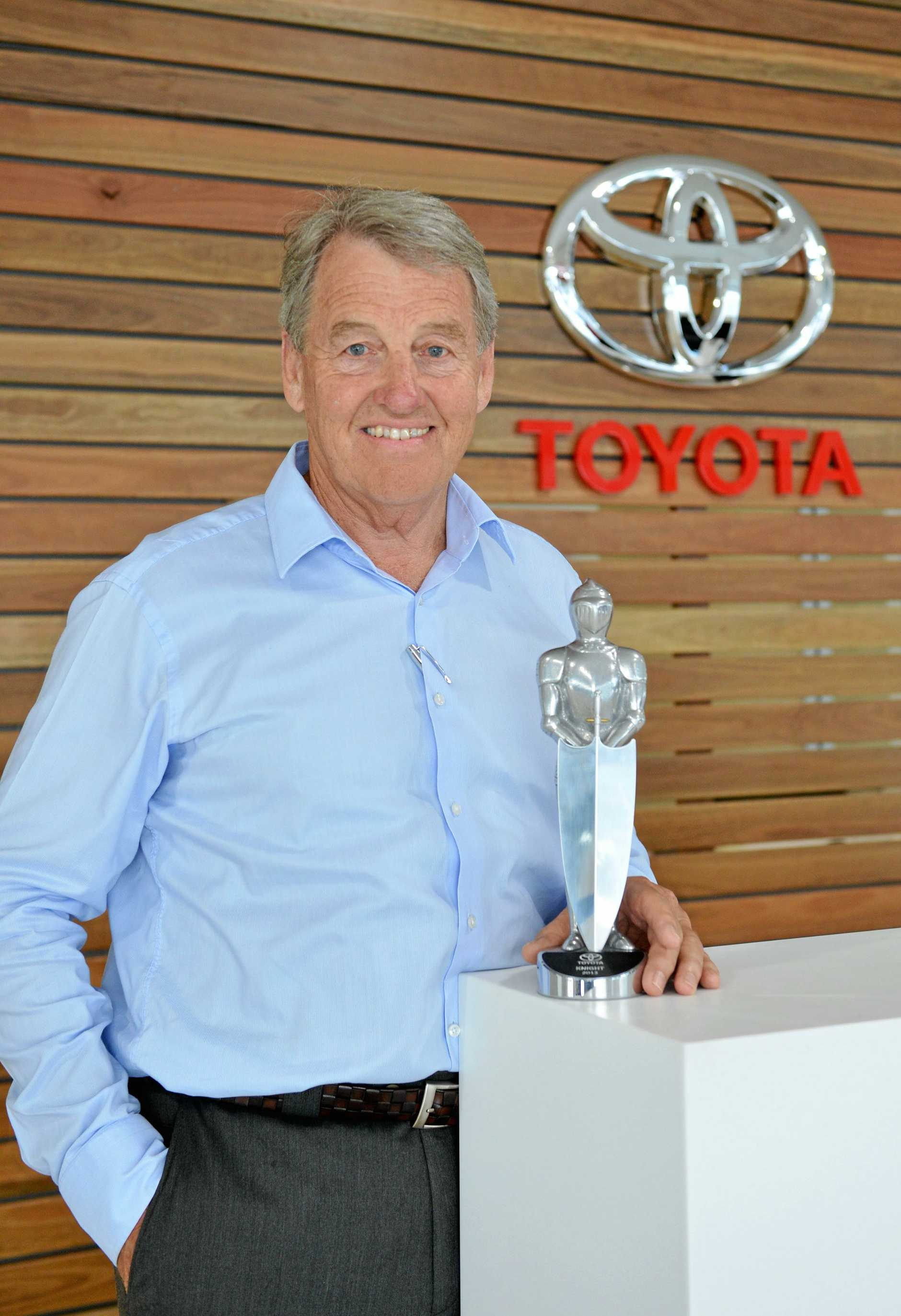 John Madill with award. Photo Renee Pilcher / The Gympie Times