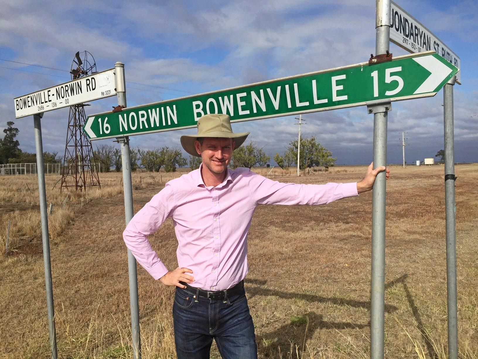 MAJOR UPGRADE: Minister Mark Bailey announced funding to improve Bowenville-Norwin Rd.