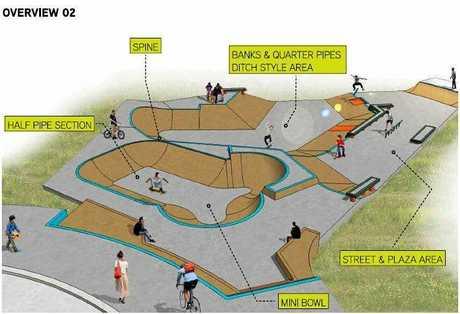 The plans for the new skate park at Boyne Island.