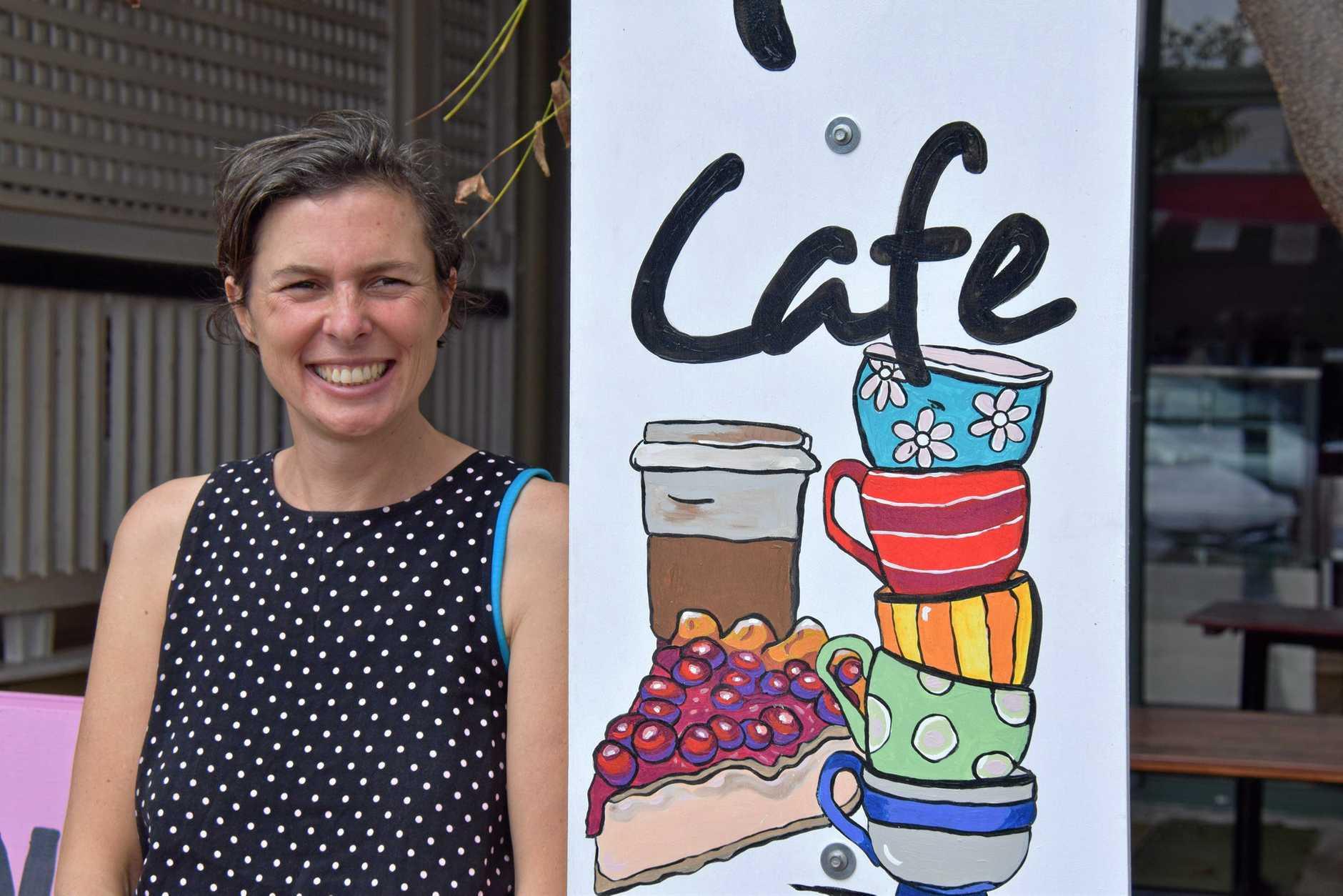 FRESH START: Monique De Martin outside her new vegan cafe, Nourish which now has an official open date