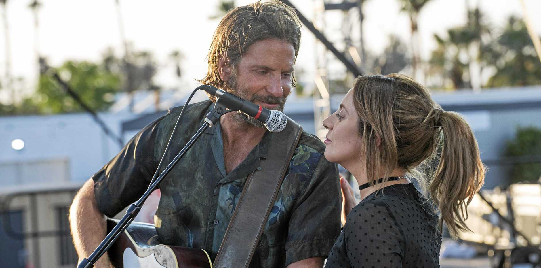 REMAKE: Bradley Cooper and Lady Gaga in a scene from the movie A Star Is Born.