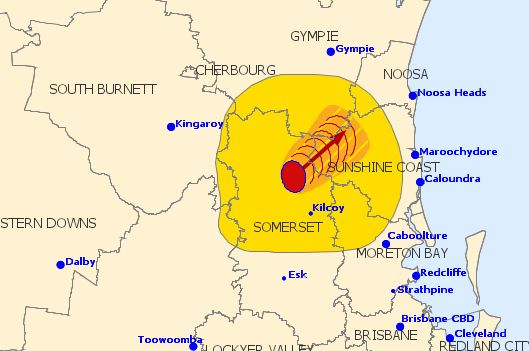 Severe thunderstorms are rolling towards the Sunshine Coast.