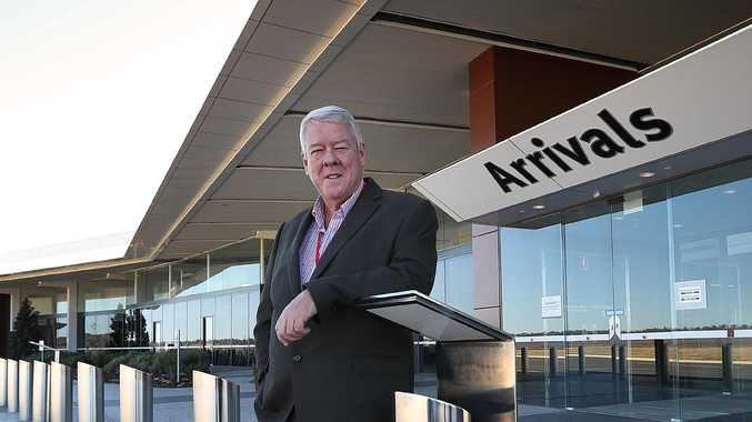 A proud John Wagner at his Toowoomba Wellcamp Airport, just outside Toowoomba west ion Brisbane. The airport is Australia's newest airport. Lyndon Mechielsen/The Australian