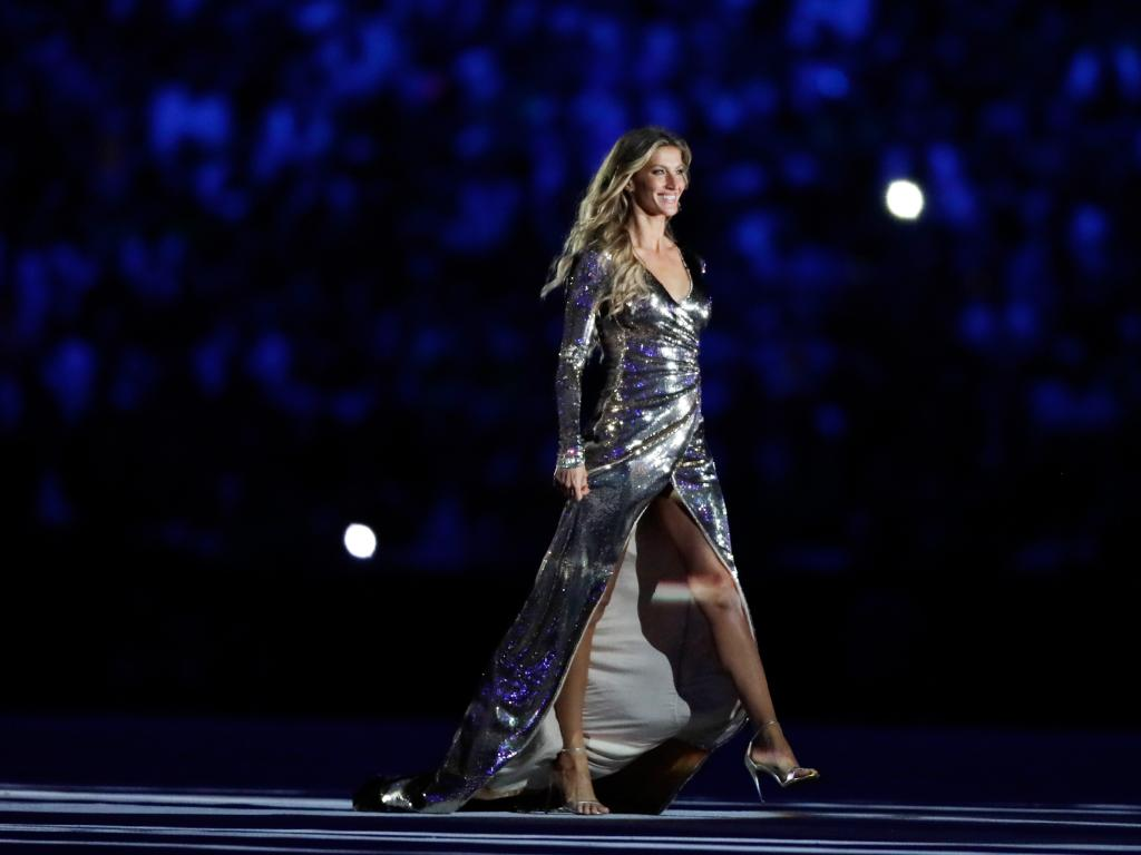Gisele Bündchen during the Opening Ceremony of the Rio 2016 Olympic Games. Picture: Getty Images