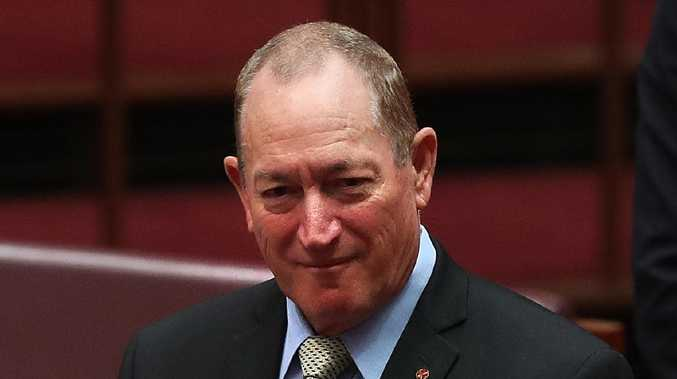 Senator Fraser Anning in the Senate Chamber at Parliament House in Canberra. Picture: Kym Smith