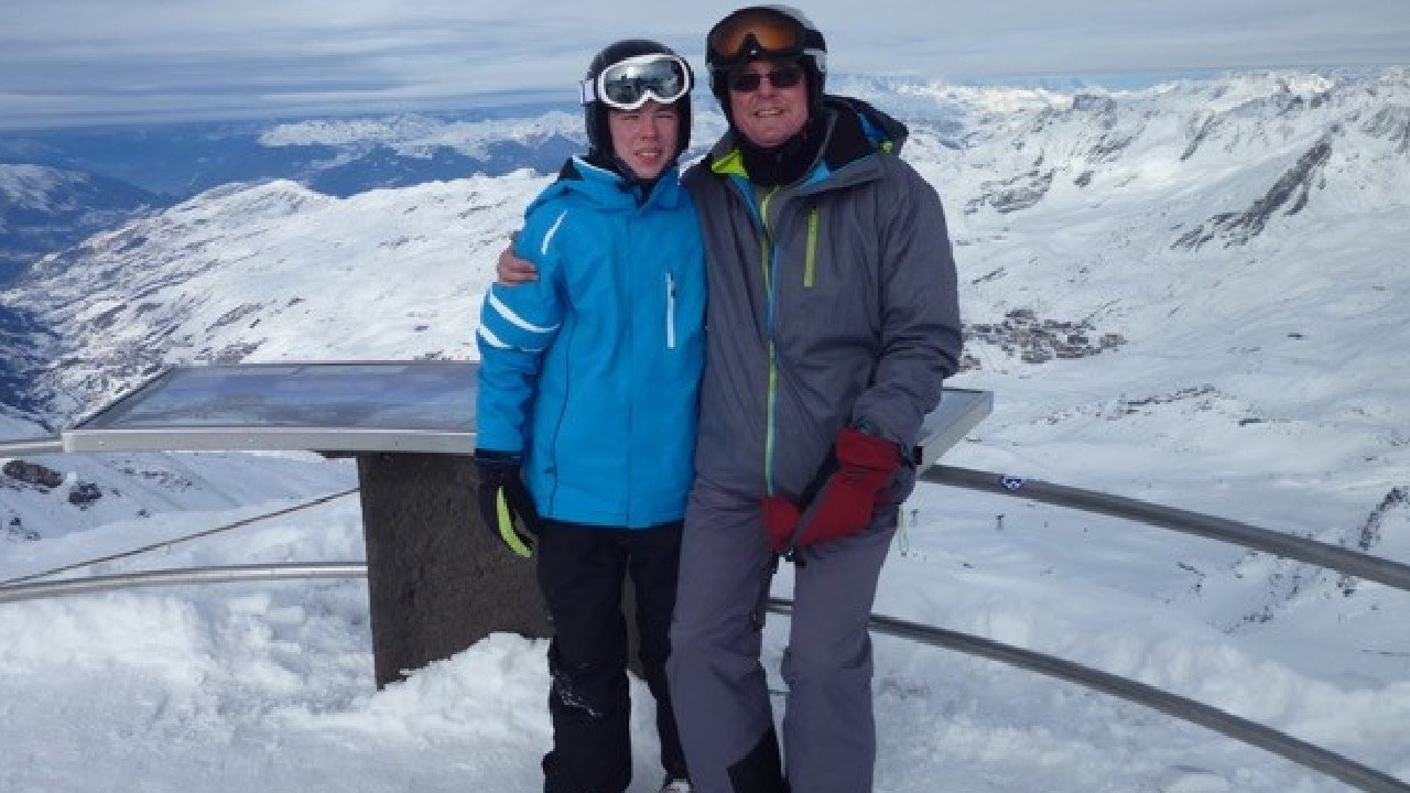 A NSW family's ski holiday in France took a nasty turn when 14-year-old Tom fell on ice.