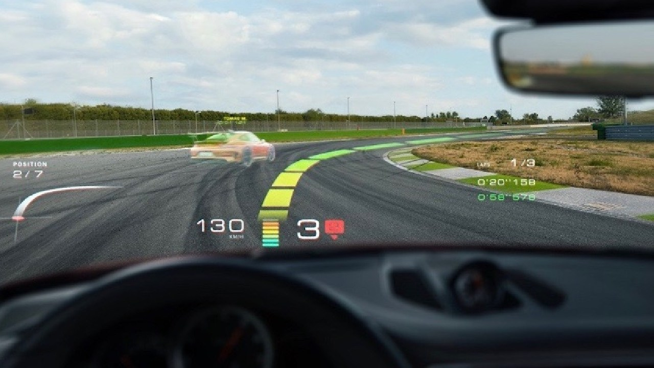 WayRay gives Porsche drivers an advantage on track.
