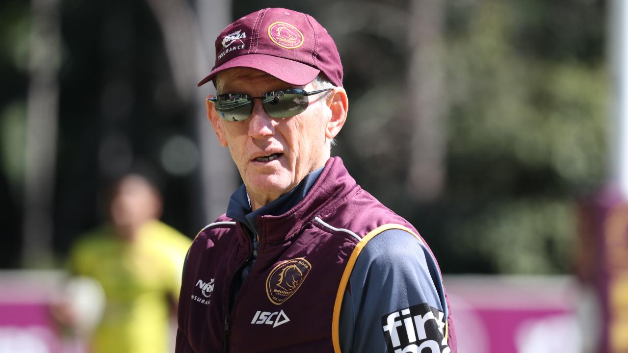 Wayne Bennett at Broncos Training. Pic Annette Dew