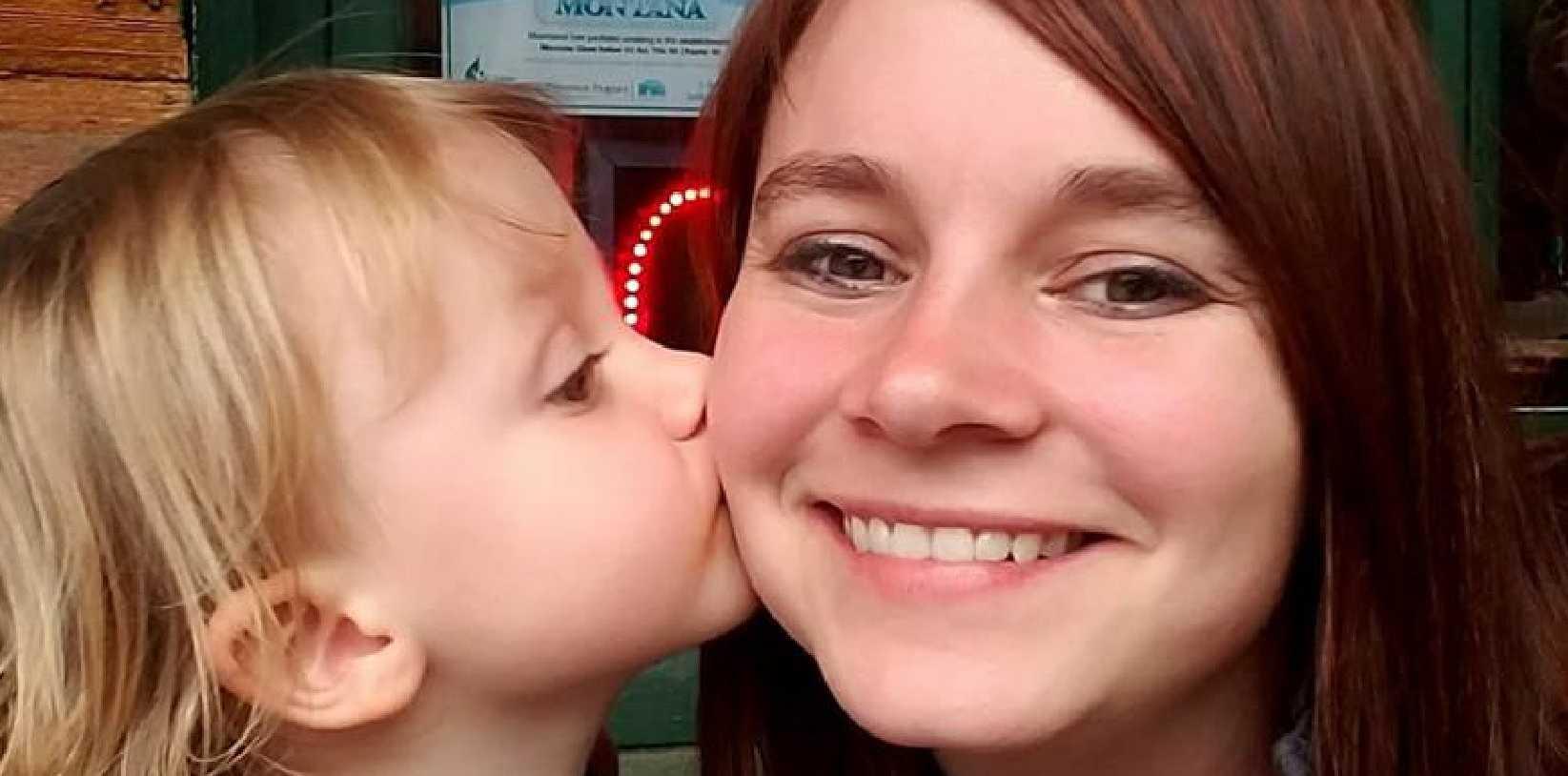 Sierra Greenlee with her daughter Arya.
