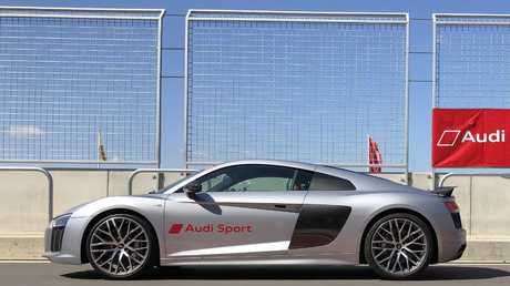 The experience includes laps in an R8 supercar. Picture: Supplied.