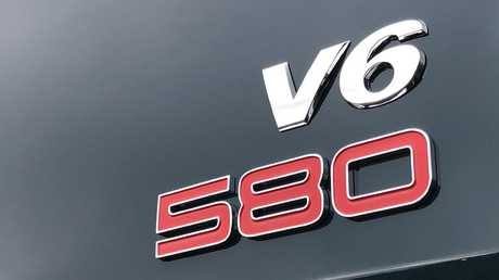 The V6 580 badge is for Australian deliveries only.