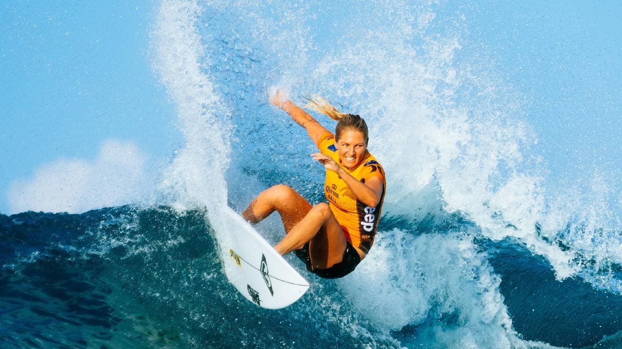 Stephanie Gilmore can wrap up the world surfing title with a win in France