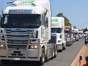 Expect delays as 600 trucks join memorial convoy