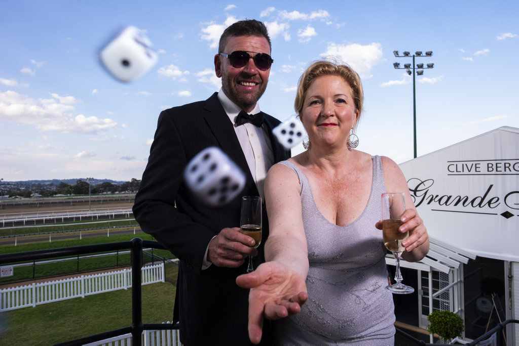 Derrick Lunney and Rotary Edge president Josie Howard are looking forward to next weekend's Monte Carlo Nigh at Clifford Park Racecourse.
