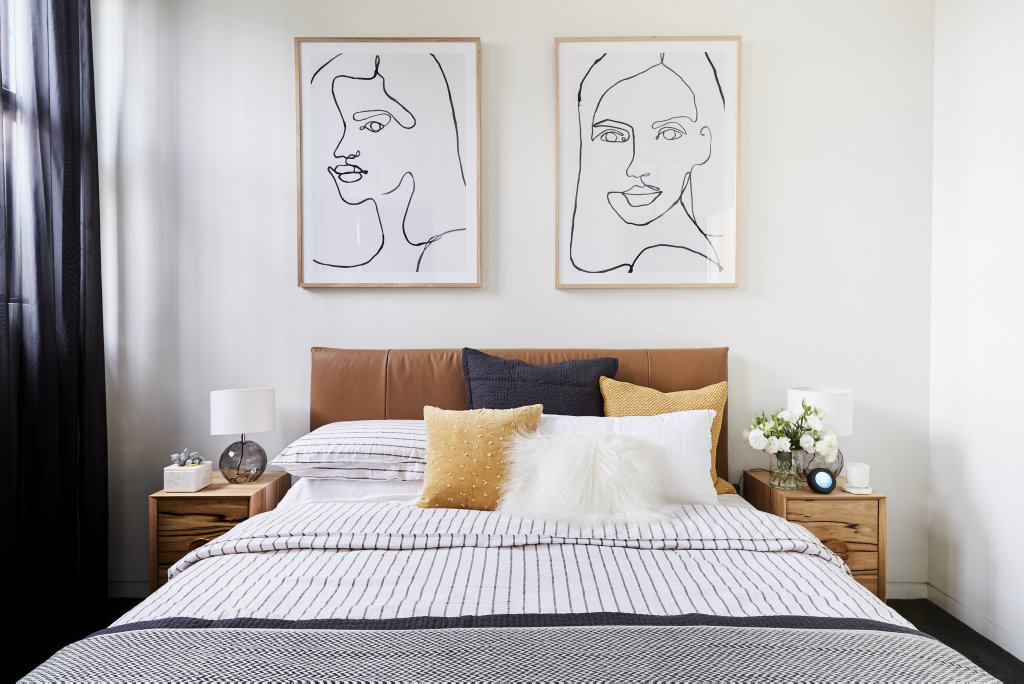 Bianca and Carla won second guest bedroom week on The Block with their 'refreshing' tones.
