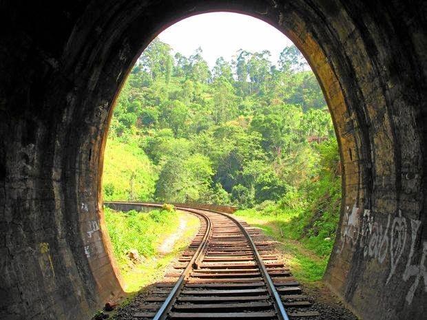 Rail tunnel near Many Peaks