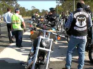 Police allege bikie went armed with machete