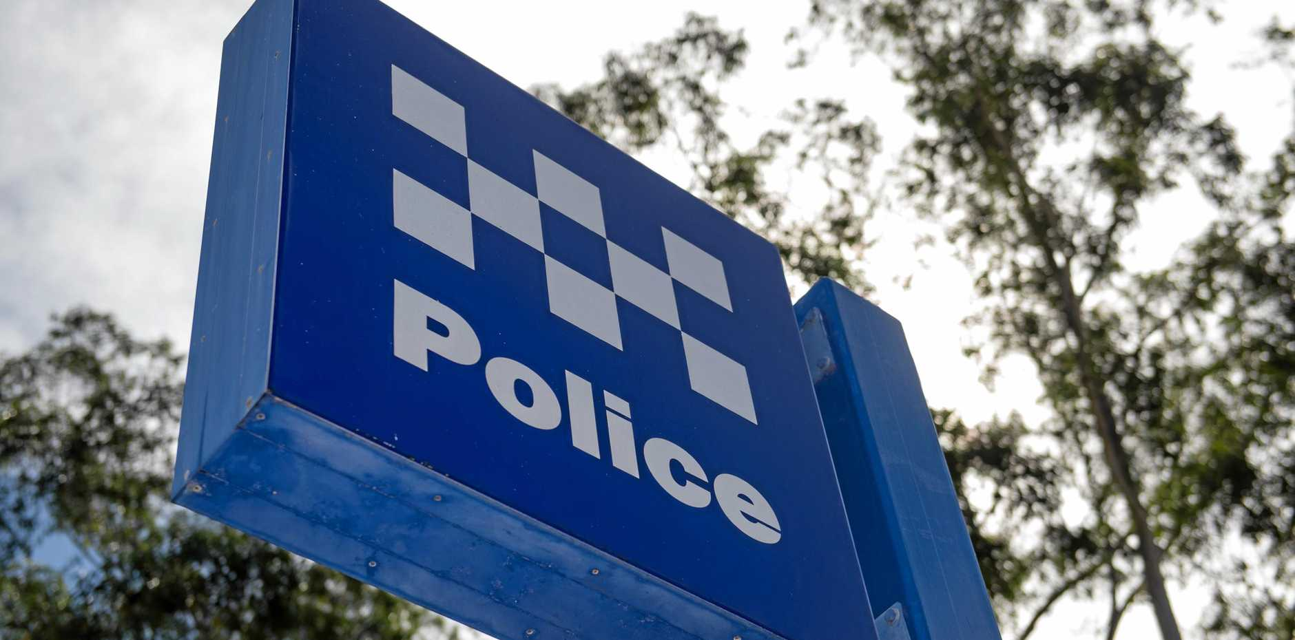 POLICE: NSW police highway patrol car helped in the manhunt.
