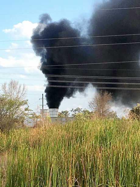 The thick black smoke at North Goonyella Mine.