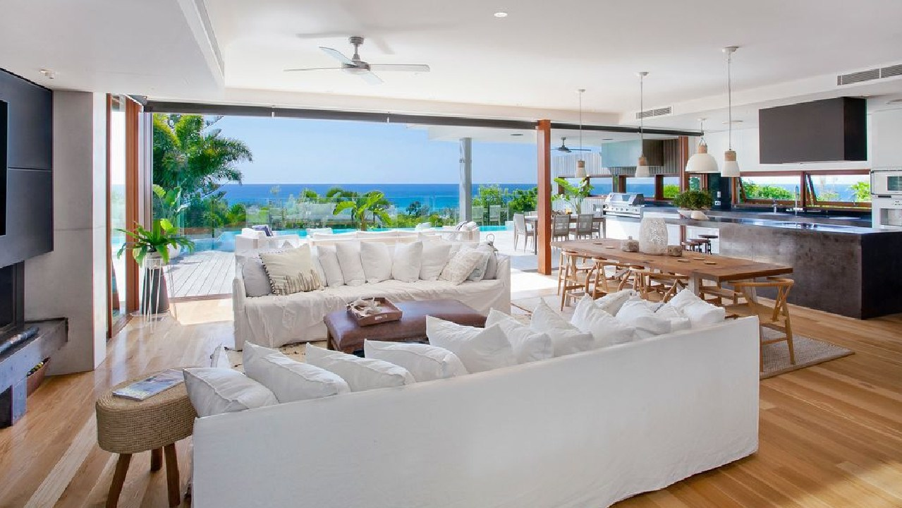 The home was designed by renowned Noosa architect Tim Ditchfield to make the most of the location.