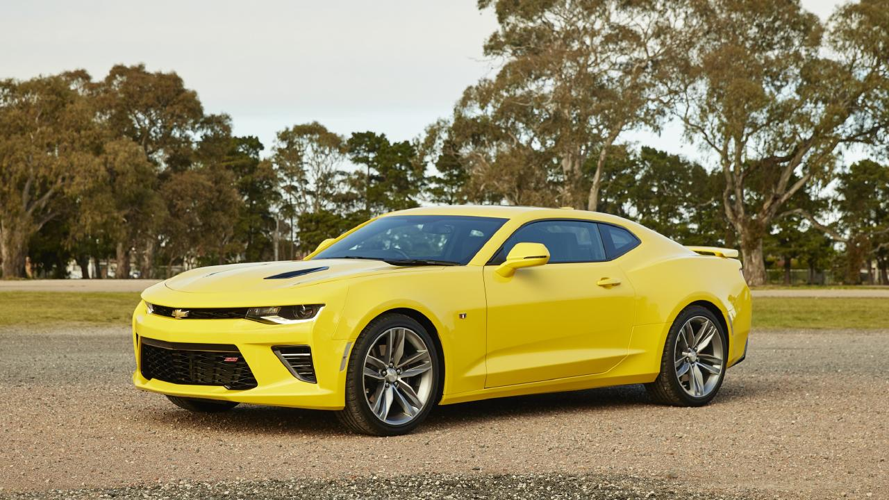 The Camaro is quicker to 100km/h than the rival Ford Mustang.