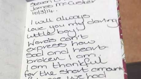 Laura Gallazzi penned a moving letter to her infant son. Picture: BBC