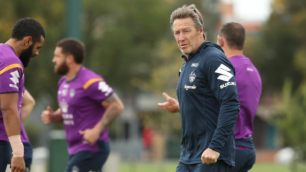 Storm players are glowing in their praise of coach Craig Bellamy. Picture: Getty Images