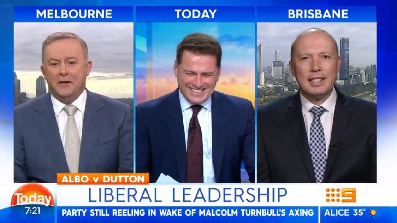 Karl Stefanovic interviews Peter Dutton (right) and Anthony Albanese on Today.