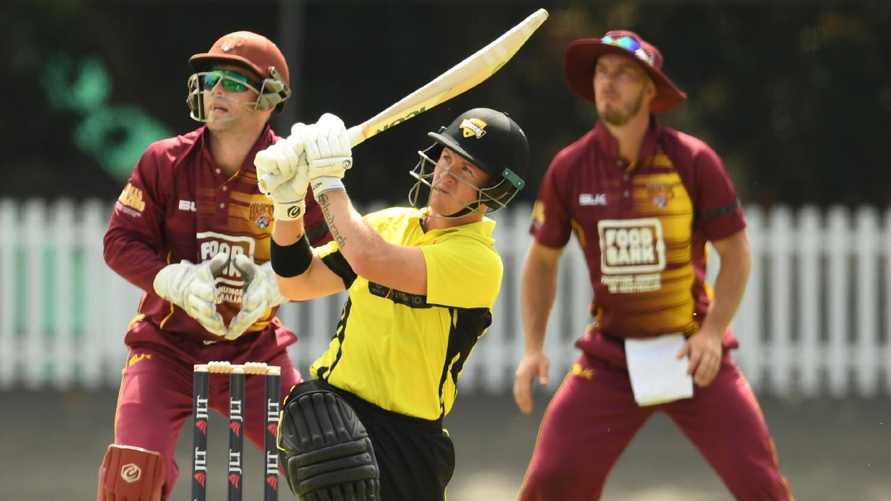 D'Arcy Short smashed 257 on Friday for Western Australia during the JLT One-Day Cup clash against Queensland. Picture: AAP