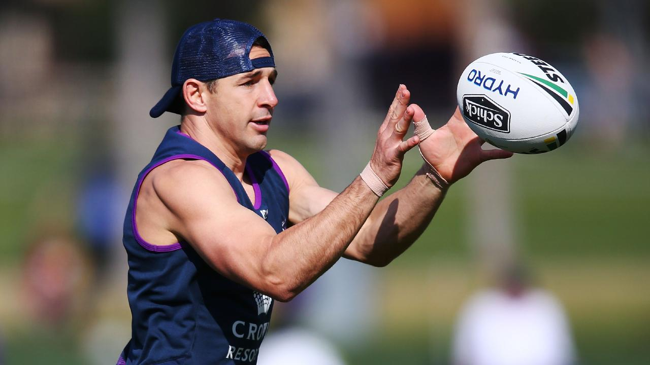 Billy Slater will play his final NRL game this Sunday. Picture: Michael Dodge/Getty Images